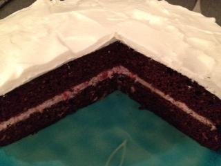 Chocolate Almond 'Birthday' Cake
