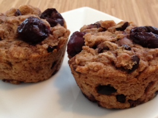 Cherry Chocolate Muffins……2 Ways!