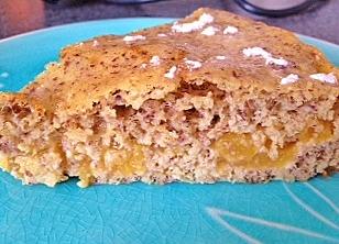 Hazelnut Peach Cake