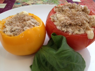 Italian Tuna Stuffed Heirloom Tomato