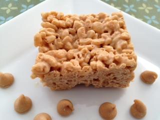 Peanut Butter & White Chocolate KrispieSquares