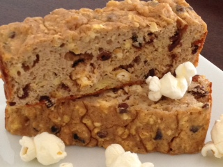 Cinnamon Cacao Popcorn Loaf….Say What?Popcorn?