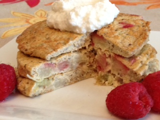Rhubarb Protein Pancakes