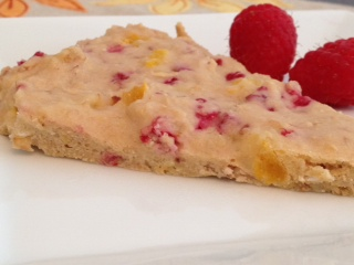 Apricot Almond Raspberry Shortbread Triangles