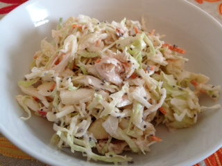 BBQ Apple Chia Chicken Coleslaw – Power Meal Challenge #3