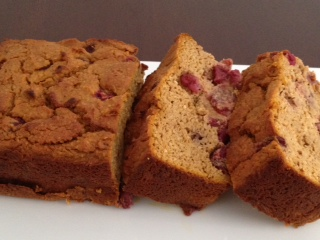 Cranberry Pumpkin Spice Loaf