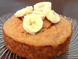 Single Serve Peanut Butter Banana Cake